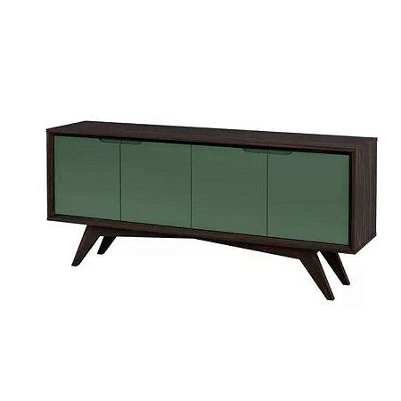Buffet Querubim 04 portas cor Envelhecido com Verde Musgo