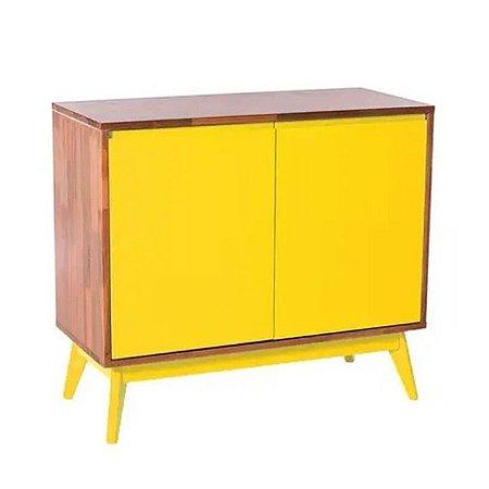 Buffet Roma 02 portas cor Natural com Amarelo