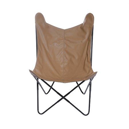 Cadeira Cadeira Butterfly PU Caramelo
