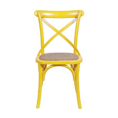 Cadeira Cross Amarela