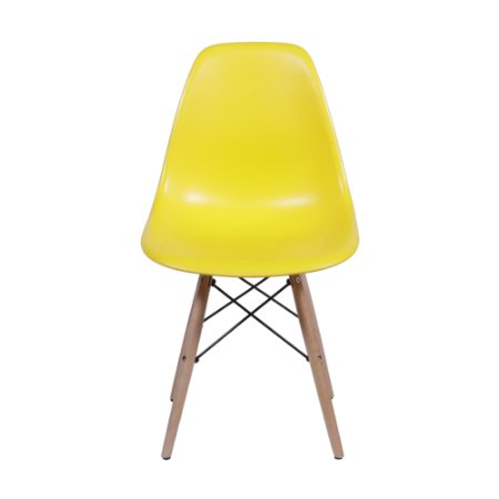 Cadeira DKR Base Madeira Amarela