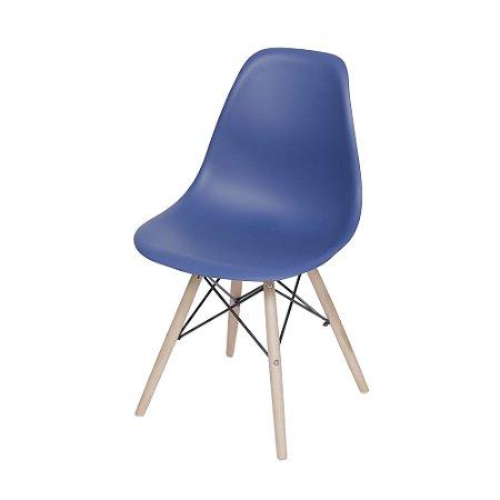 Cadeira DKR Base Madeira Azul Marinho