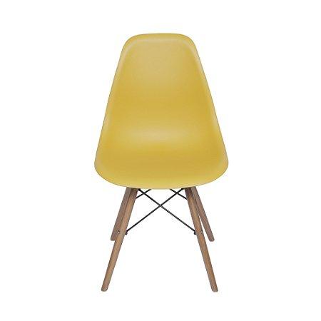 Cadeira DKR Base Madeira Açafrão