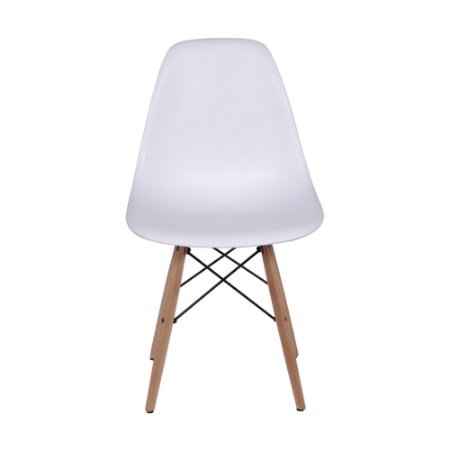 Cadeira DKR Base Madeira Branca