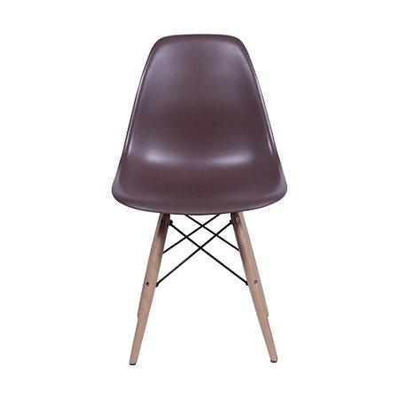 Cadeira DKR Base Madeira Café