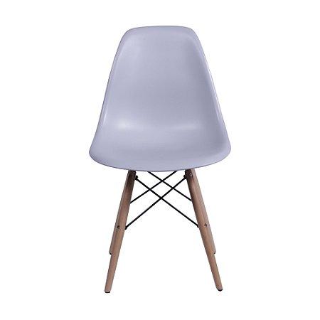 Cadeira DKR Base Madeira Cinza