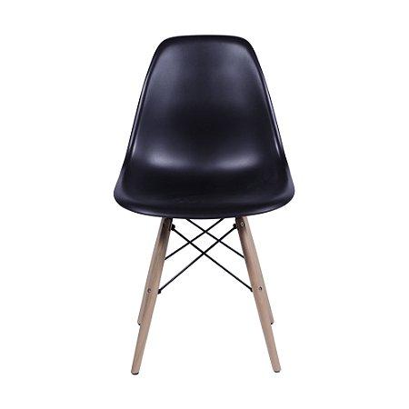 Cadeira DKR Base Madeira Preta
