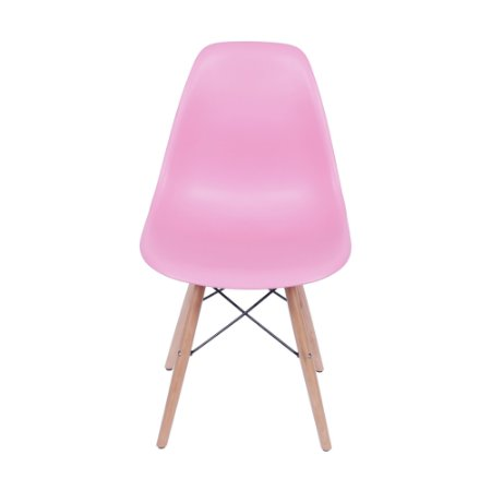 Cadeira DKR Base Madeira Rosa