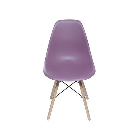 Cadeira DKR Base Madeira Roxa