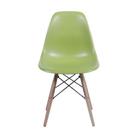Cadeira DKR Base Madeira Verde