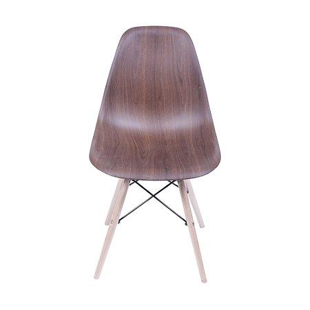 Cadeira DKR Base Madeira Wood Escura