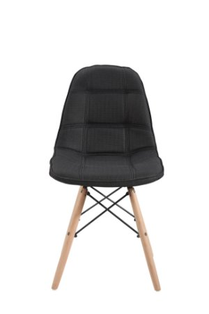 Cadeira DKR Botone Linho Base Madeira Preta
