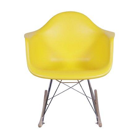 Cadeira DKR Com Braço Base Balanço Amarela