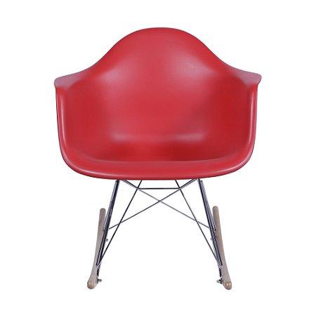 Cadeira DKR Com Braço Base Balanço Vermelha