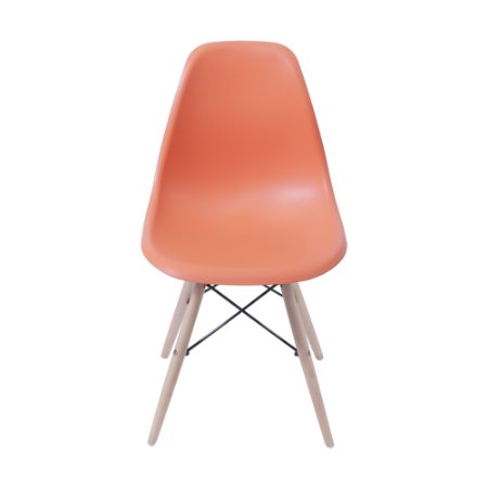 Cadeira DKR Kids Base Madeira Laranja