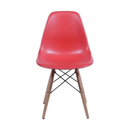 Cadeira DKR Kids Base Madeira Vermelha