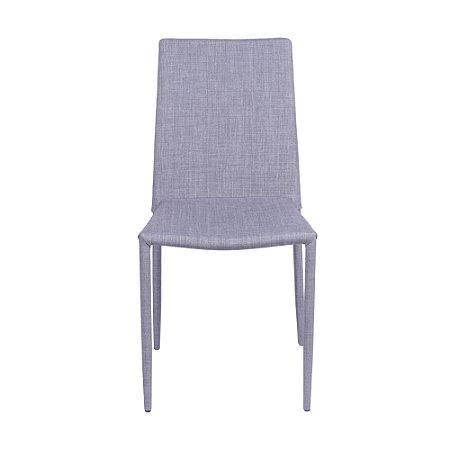 Cadeira Glam Em Linho Cinza