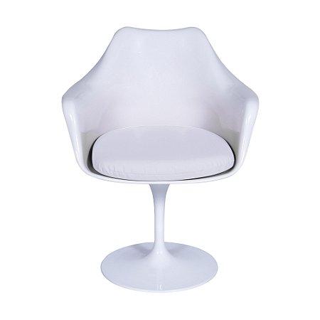 Cadeira Saarinen Com Braço Branca AB
