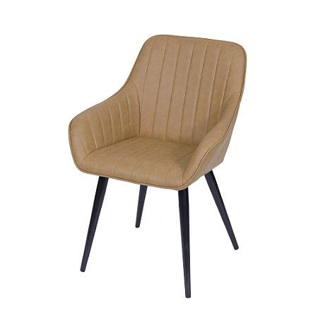 Cadeira Volga Com Braço Caramelo