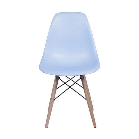 Cadeira DKR Base Madeira Azul