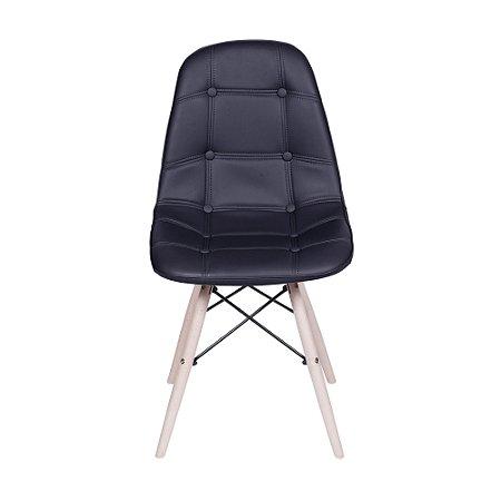 Cadeira DKR Botone Base Madeira Preta