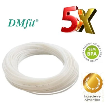 Tubo Polietileno Natural 3/8 Diâmetro - 5 Metros