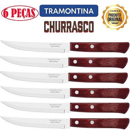 Conjunto de 6 facas para churrasco - TRAMONTINA