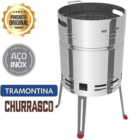 Churrasqueira À Carvão Tcp400 Inox Com Bandeja - Tramontina