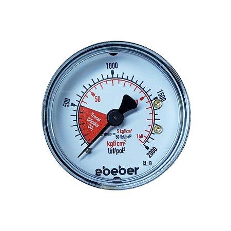 Manômetro de Alta para Regulador de CO2 - Ebeber/ Wika