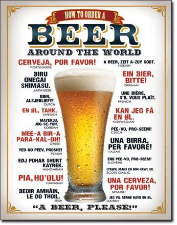 Placa Decorativa (em Metal) - How To Order A Beer