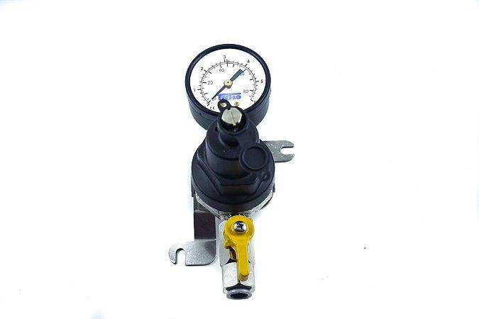 Regulador de Segundo Estágio para CO2 com Manômetro