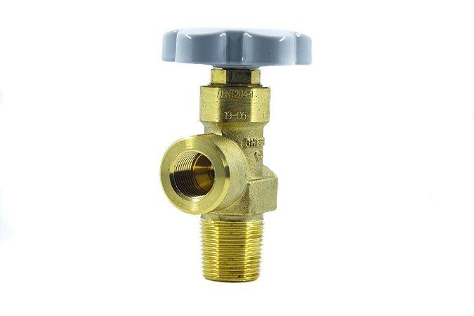 Válvula Para Cilindro De Aço P/ Ar Respirável - Entrada W28,8