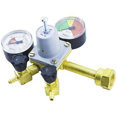 Regulador de Pressão P/ Chopp (2 saídas) - com Espigão - UMF