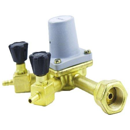 Regulador de Pressão Pré Calibrado para CO2 (2 saídas - espigão 1/4) - UMF