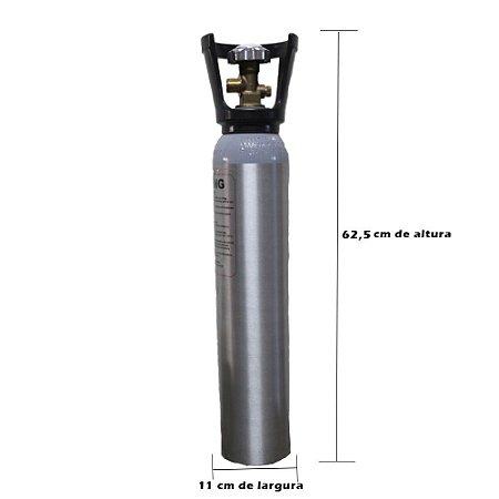 Cilindro de CO2 em Alumínio 2.3kg (com alça) – Sem Carga