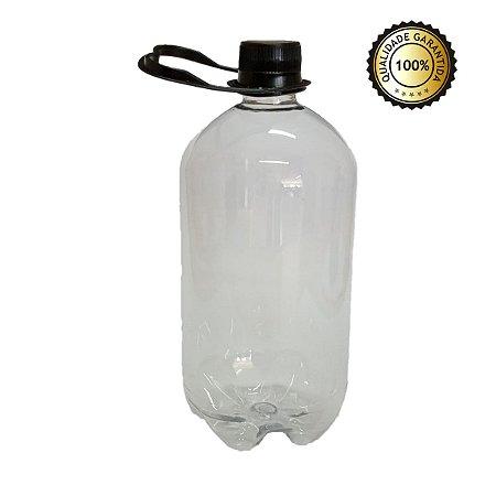 Growler Pet - Tipo Garrafa Pet - Cristal - 1 Litro (Kit com 10 unidades)