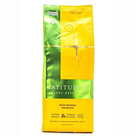 Café Latitude 13 Orgânico Gran Reserva - Torrado Grãos (500g)
