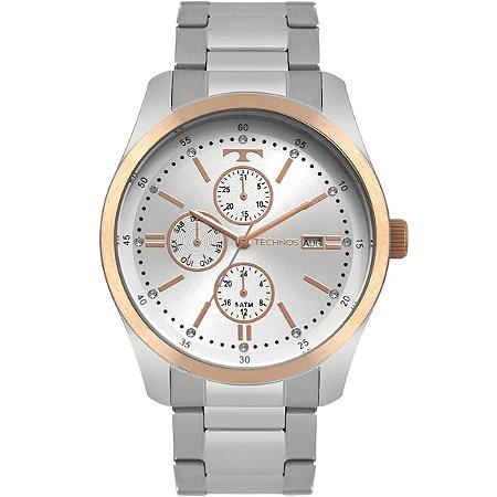 Relógio Technos Aço e Rosê Gold 6P89HZ-5K