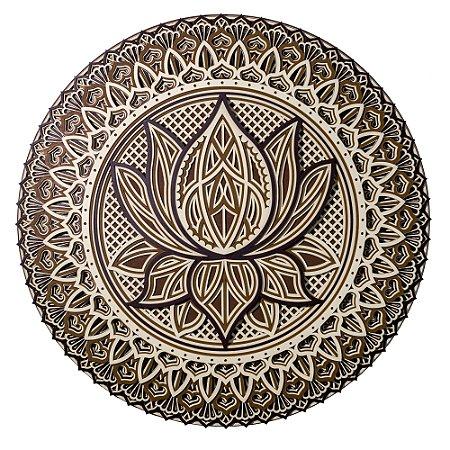 Mandala 3D Flor de Lótus Multilayer