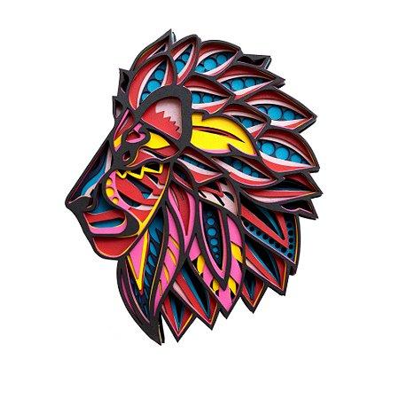 Mandala 3D Leão de Judá Yeshua Perfil  Multilayer