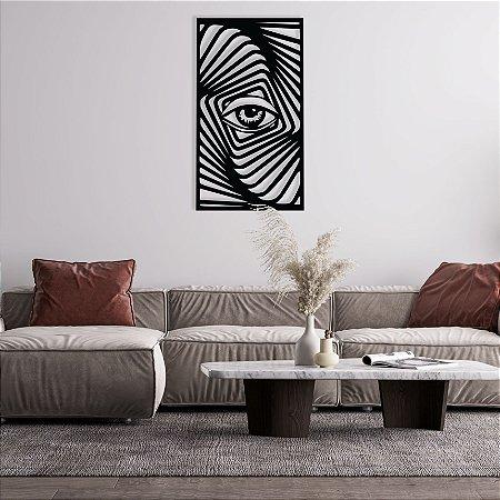Olho Tridimensional Quadro Decorativo em madeira