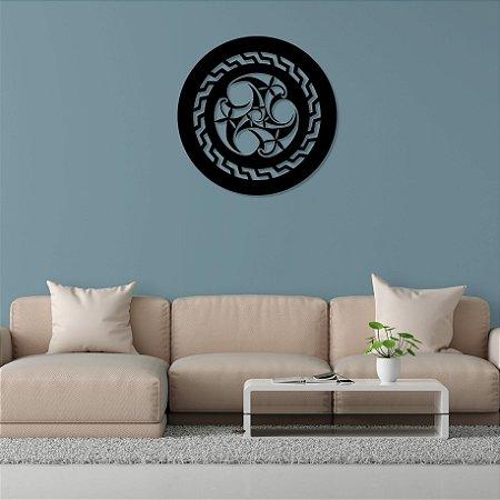 Mandala Celta Quadro Decorativo em madeira