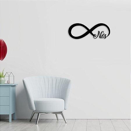 Símbolo Infinito Madeira Com A Palavra Nós Dia Dos Namorados em madeira