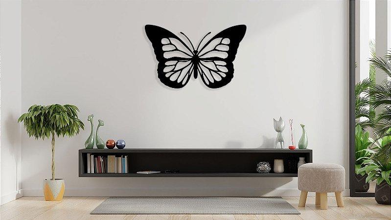 Borboleta Butterfly Escultura De Parede em madeira