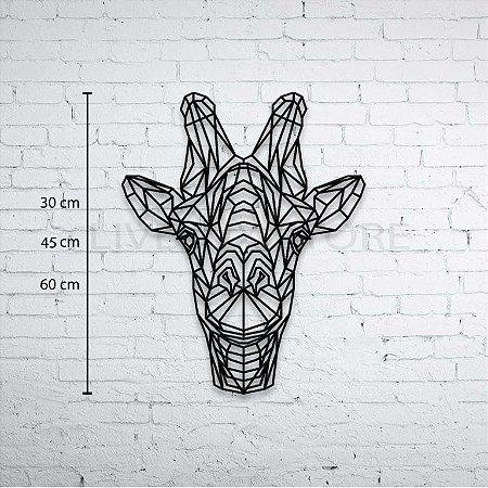 Escultura de Parede Girafa Geométrica