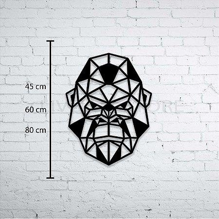 Escultura de Parede Gorila Geométrico