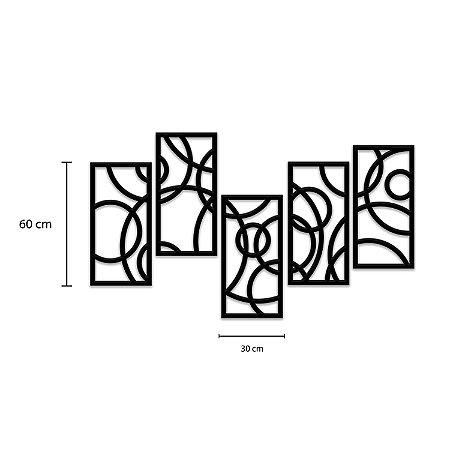 Quadro Decorativo Kit 5 Partes Orbital