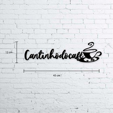Cantinho do Café decoração em madeira 45x12cm (LxA)