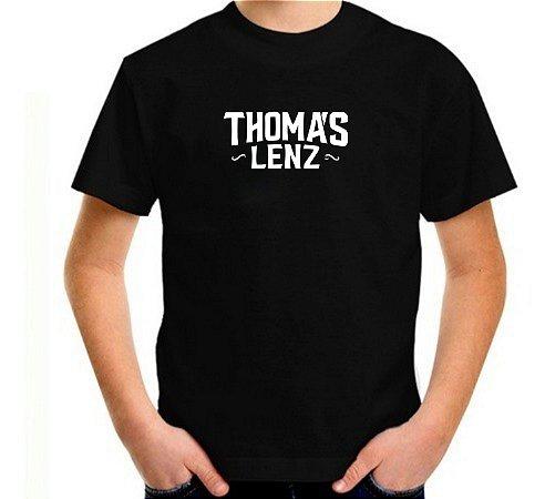 Camiseta infantil preta logo 2019 -2020