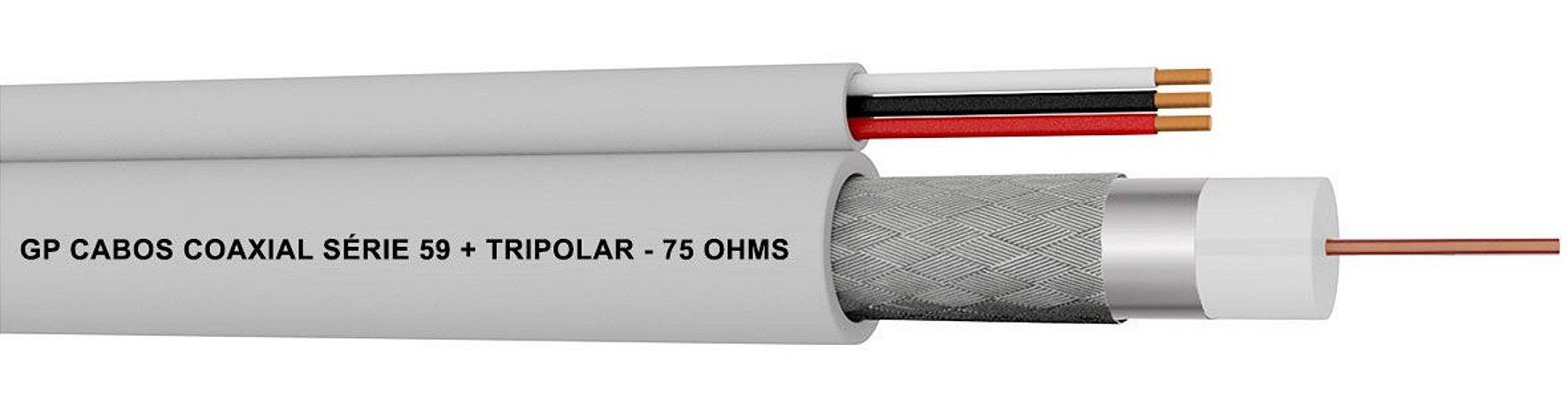 Cabo Coaxial Série 59 + Tripolar - 75 Ohms
